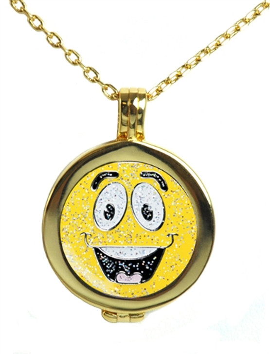 Live Love Life Gold Necklace with Glitzy Emoji Made It Charm