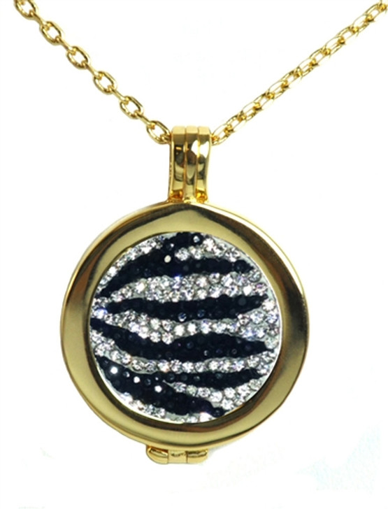 Live Love Life Gold Necklace with Zebrazz Micro Pave Crystal Charm