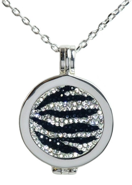 Live Love Life Silver Necklace with Zebrazz Micro Pave Crystal Charm
