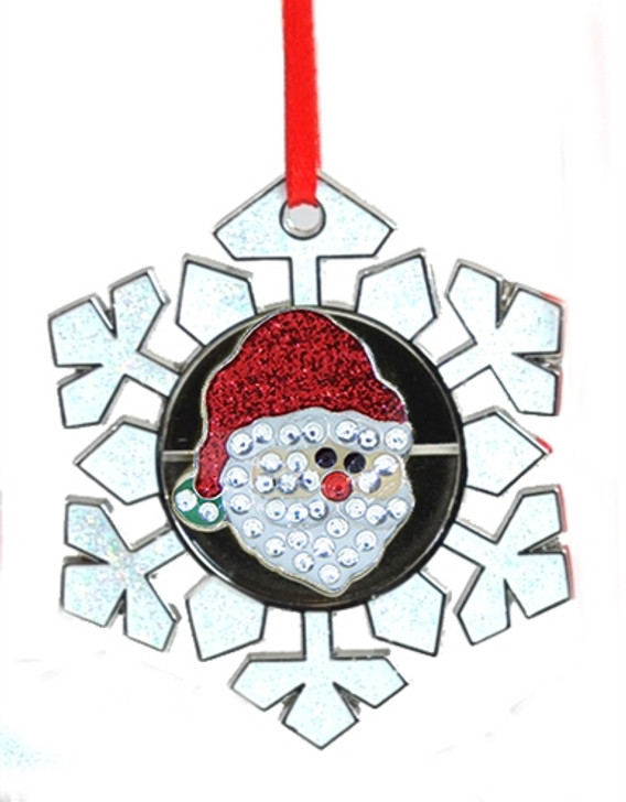 Ornament - Santa Claus Ball Marker adorned with Crystals from Swarovski® Snowflake Ornament