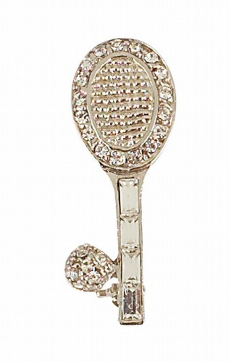 All Crystal Racquet and Ball Pin