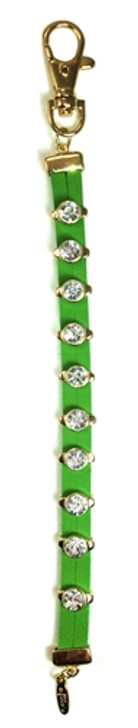 Green Leather Crystal Bead Stroke Counter
