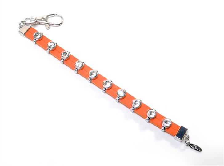Orange Leather Crystal Bead Stroke Counter