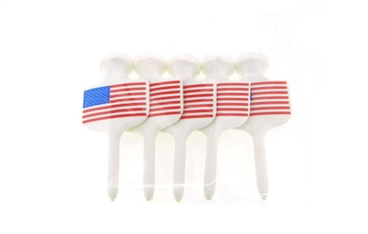 2 1/4-Inch U.S. Flag Golf Tees- 5 Pack