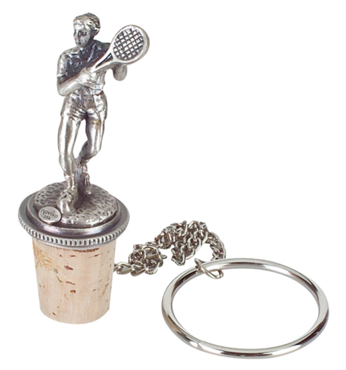 Male Tennis Player Wine Stopper