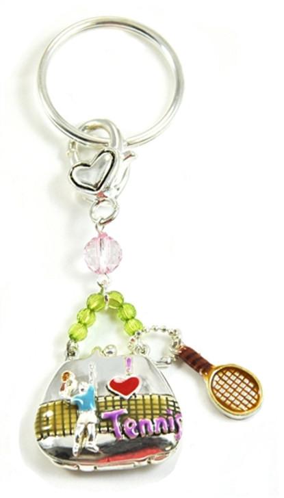 Tennis Bag Charm Key Chain