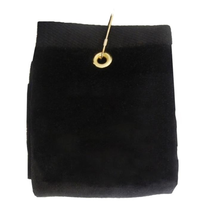 Golf Towel - PLAIN Black Terry Cloth Athletic Sports Towel