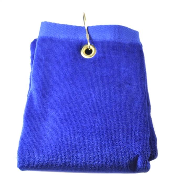 Golf Towel - PLAIN Blue Terry Cloth Athletic Sports Towel