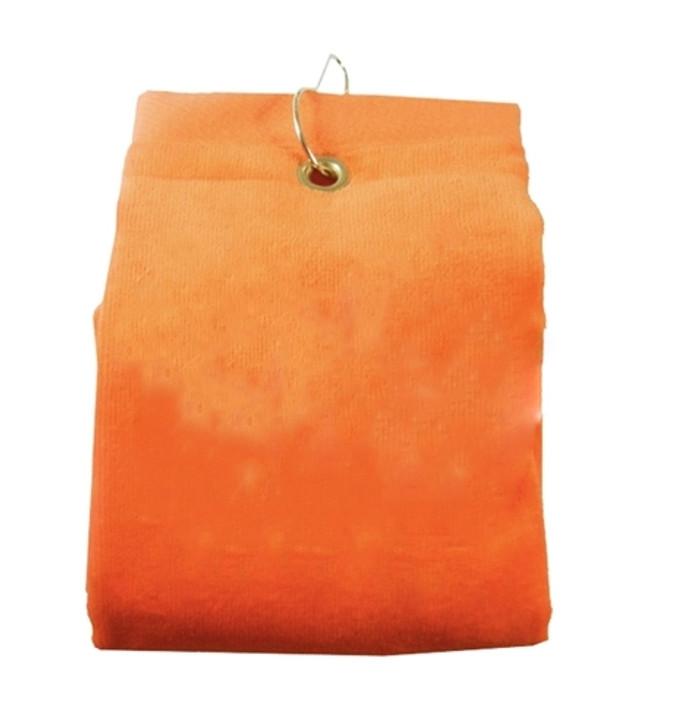 Golf Towel - PLAIN Orange Terry Cloth Athletic Sports Towel