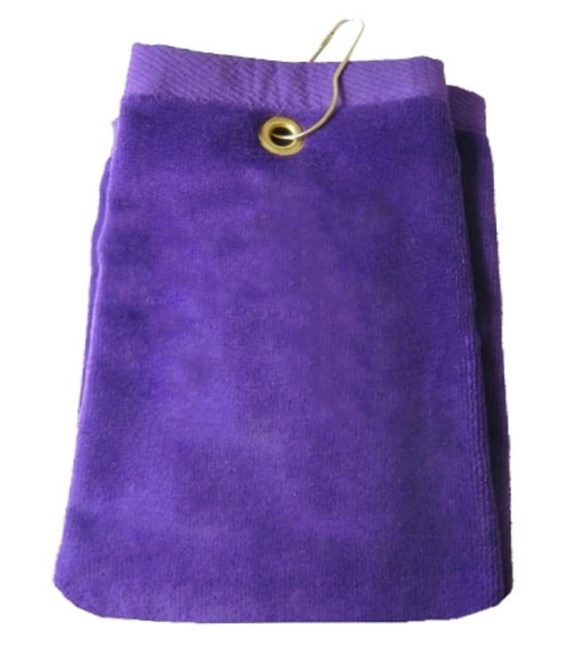 Golf Towel - PLAIN Purple Terry Cloth Athletic Sports Towel