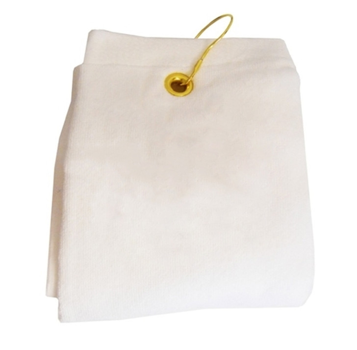 Golf Towel - PLAIN White Terry Cloth Athletic Sports Towel