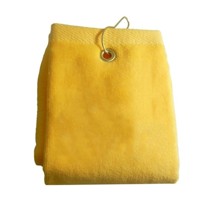 Golf Towel - PLAIN Yellow Terry Cloth Athletic Sports Towel