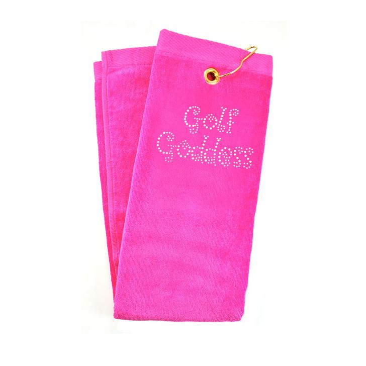 Golf Towel - Golf Goddess Crystal Terry Golf Towel