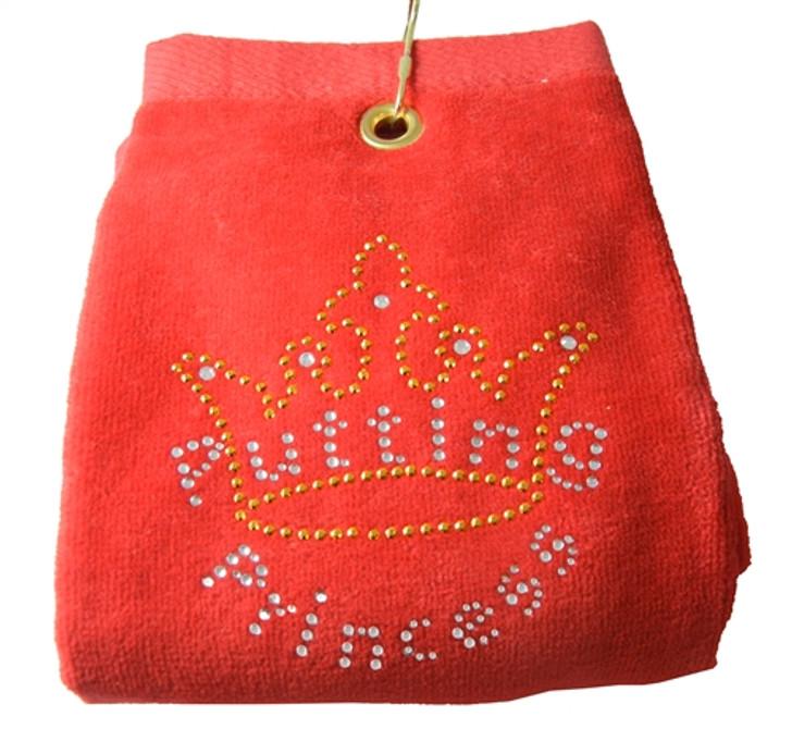 Putting Princess Crystal Terry Golf Towel - Customize Your Towel Color!