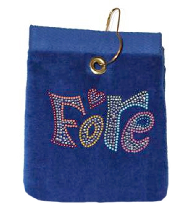 Fore Crystal Terry Cloth Golf Towel - Customize Your Towel Color!