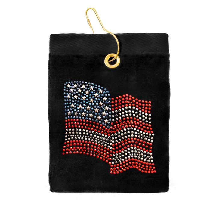 Golf Towel - American Flag Terry Cloth Golf Towel