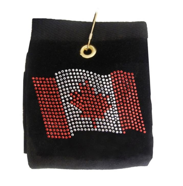 Canadian Flag Rhinestud Terry Cloth Golf Towel- Customize Your Towel Color!