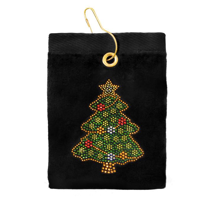 Golf Towel - Christmas Tree Terry Cloth Golf Towel