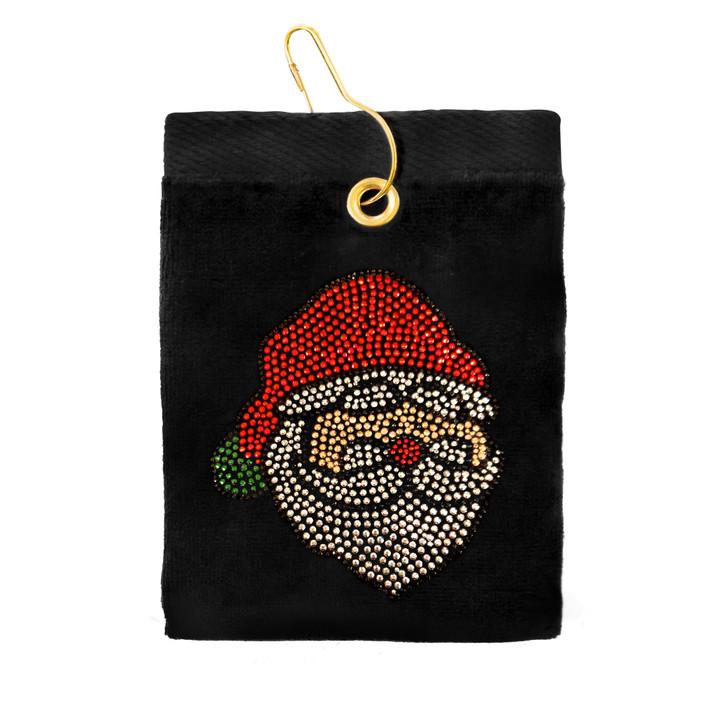 Golf Towel - Santa Claus Crystal Terry Cloth Golf Towel