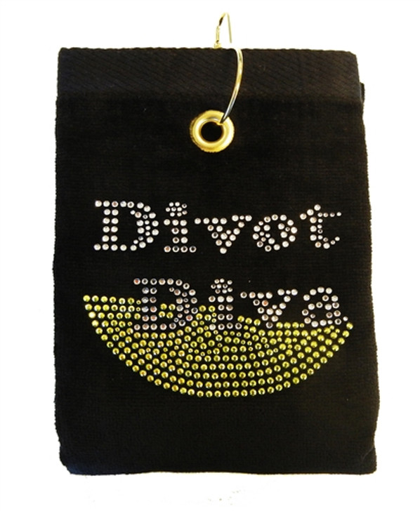 Divot Diva Crystal Terry Cloth Golf Towel - Customize Your Towel Color!-1