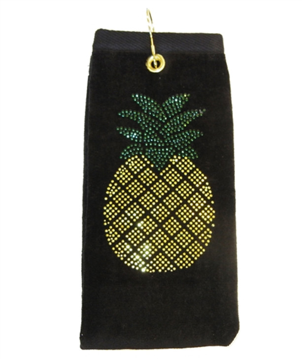 Golf Towel - Pineapple Crystal Terry Cloth Golf Towel