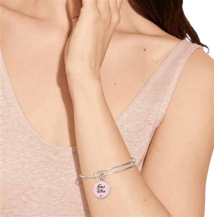 Golf Diva Charm Inspired Love Bangle