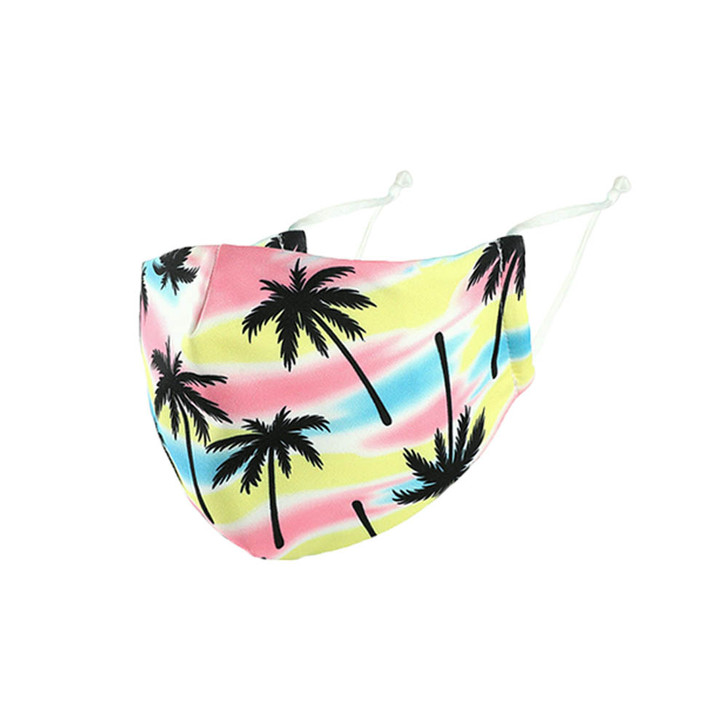 Palm printed Adjustable Cotton/Poly Face Mask