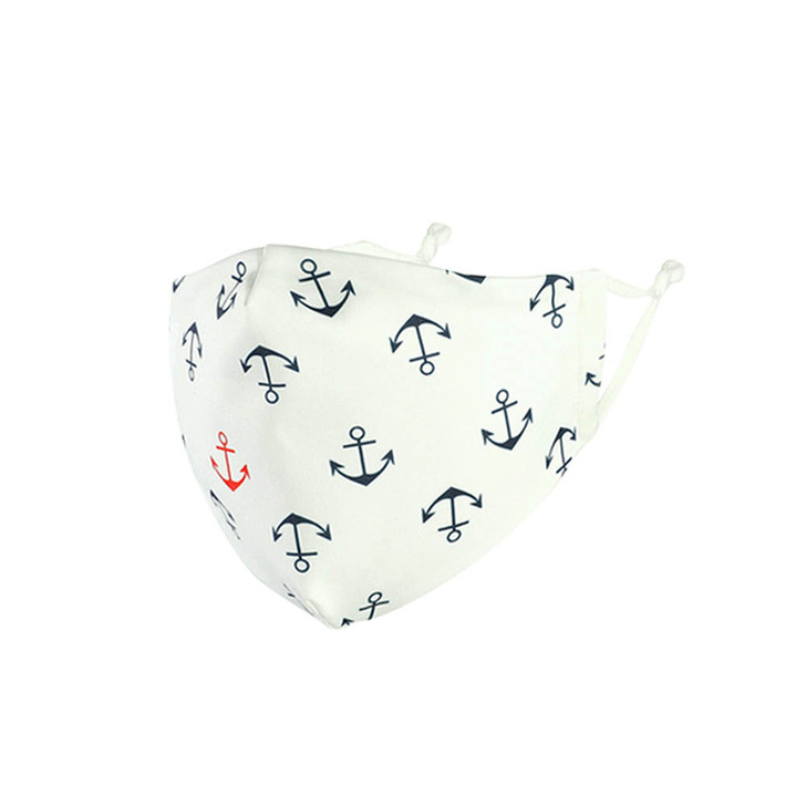 Anchor printed Adjustable Cotton/Poly Face Mask