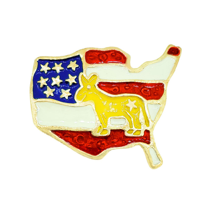 Democratic US Flag Tac Pin