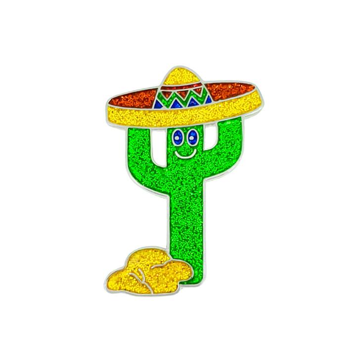 Fiesta Cactus Glitzy Ball Marker with Hat Clip