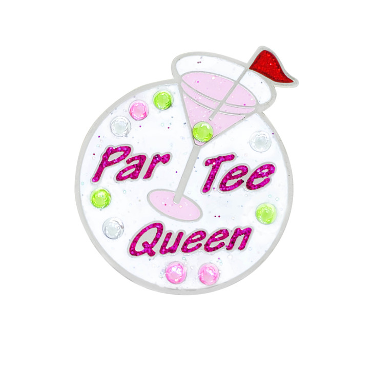 Par Tee Queen Ball Marker adorned with Crystals from Swarovski®- with Hat Clip
