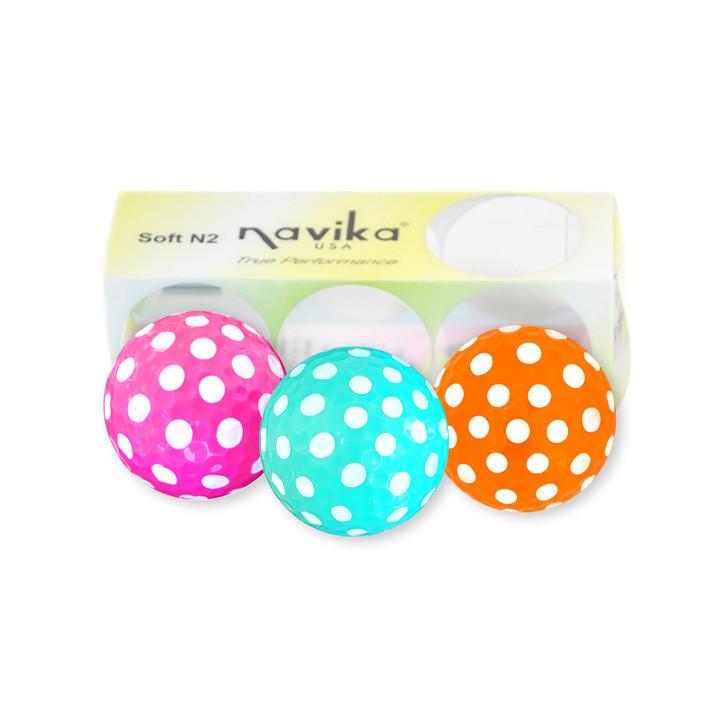 Golf Balls - Polka Dot Easter Assortment  Pink/Tiffany Blue/Orange