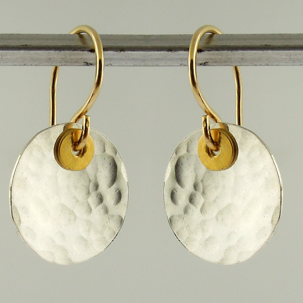 disquette 2 pebble  - 1/2'' earrings