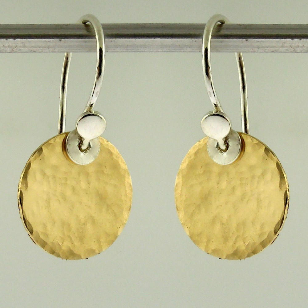disquette 2 pebble GF - 1/2'' earrings