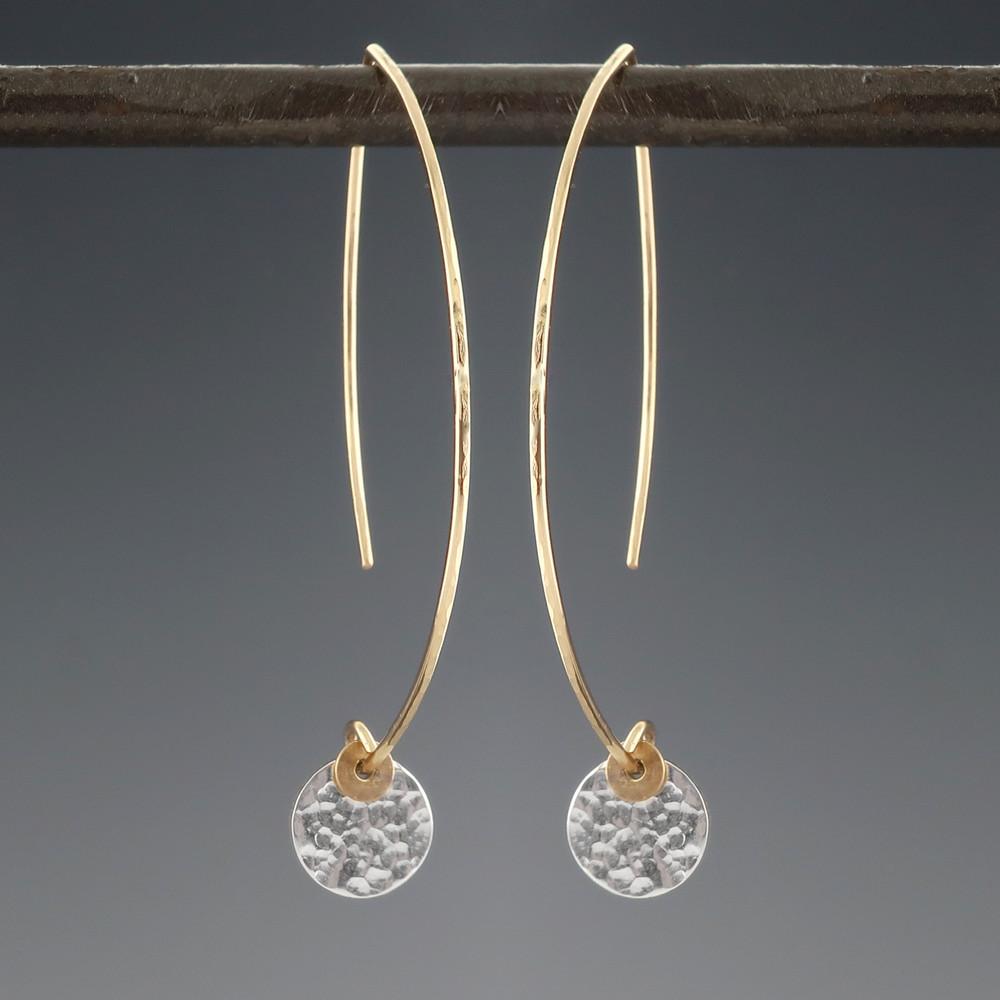 ARC dab SS - 1/4'' earrings