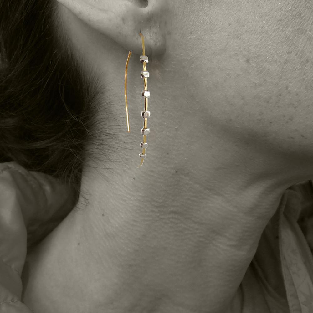 gear arc 7 earrings GF