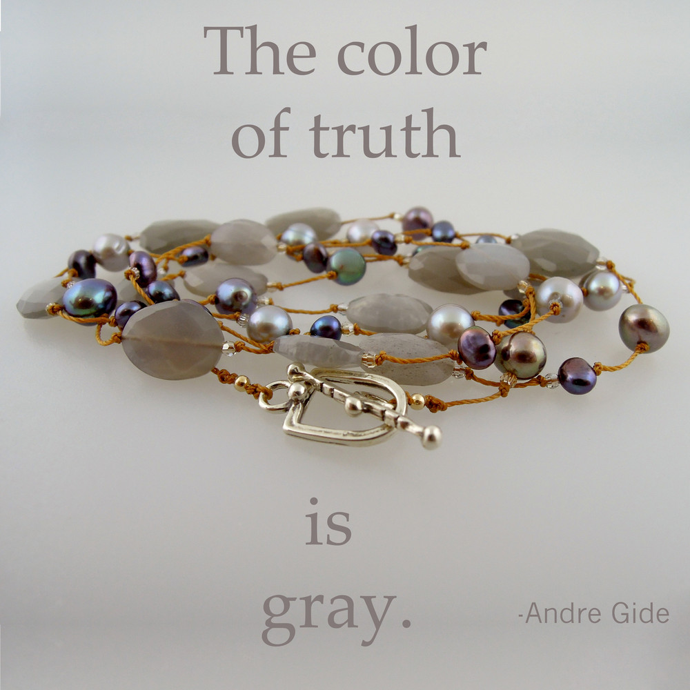 "delicata - gray moonstone pearl mix 36"""