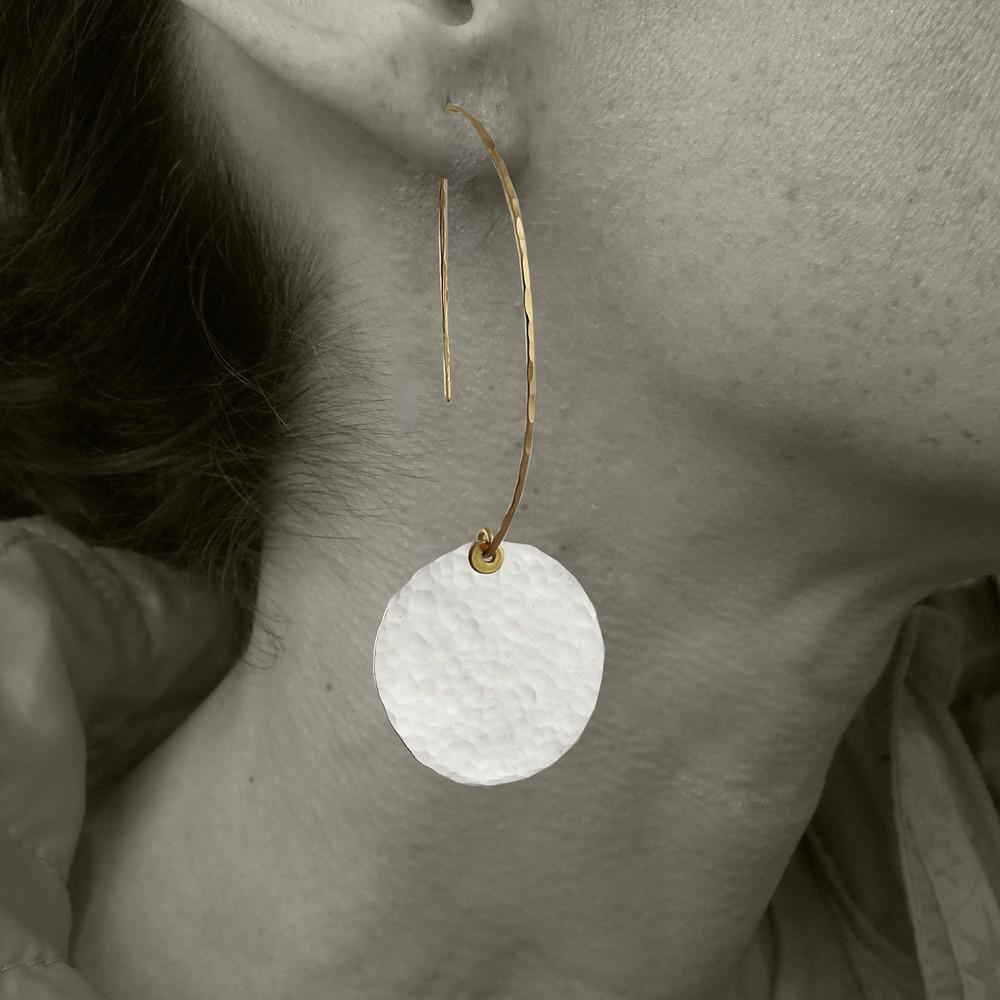 ARC disquette 4 pebble SS - earrings