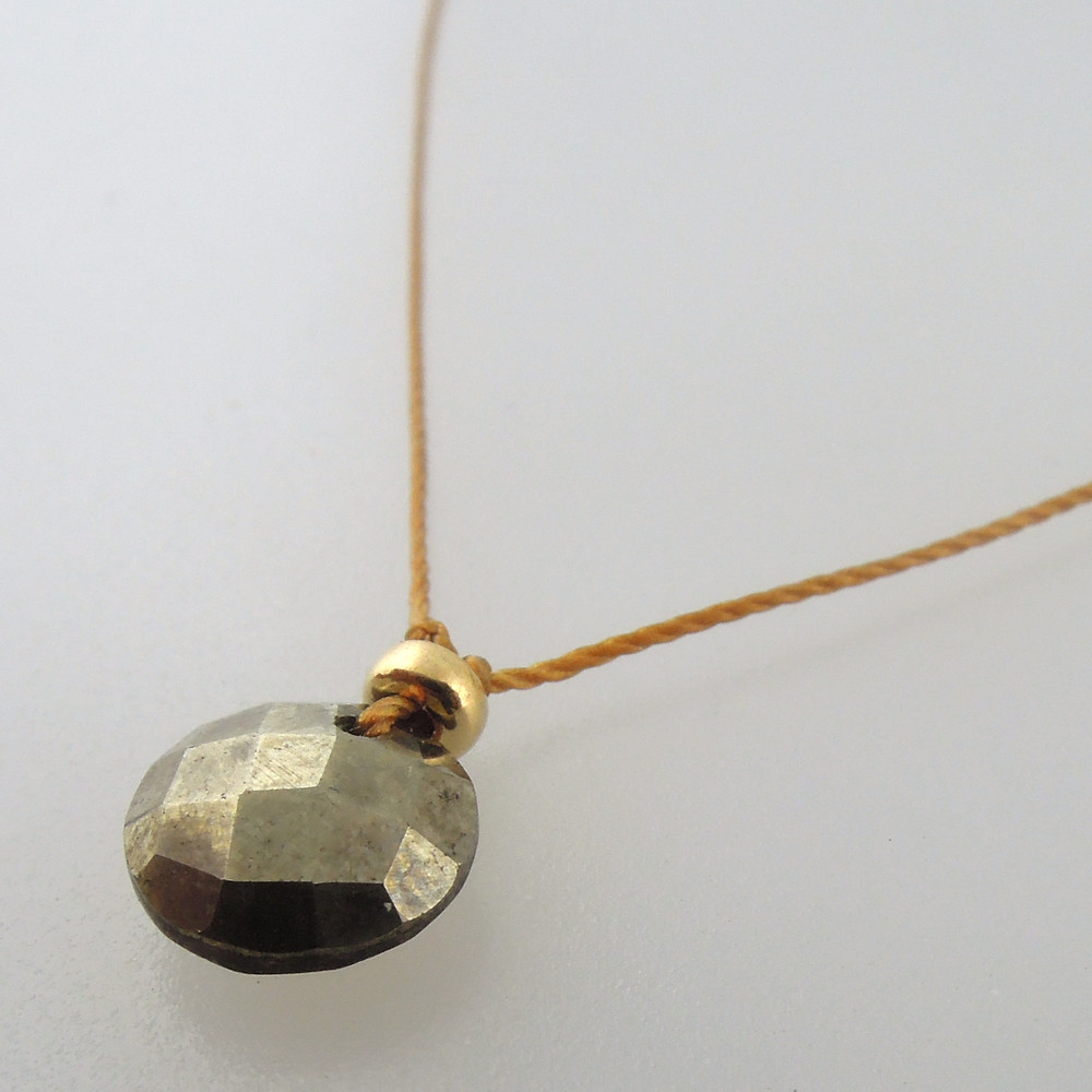 Pyrite with 14kt gold fill accents