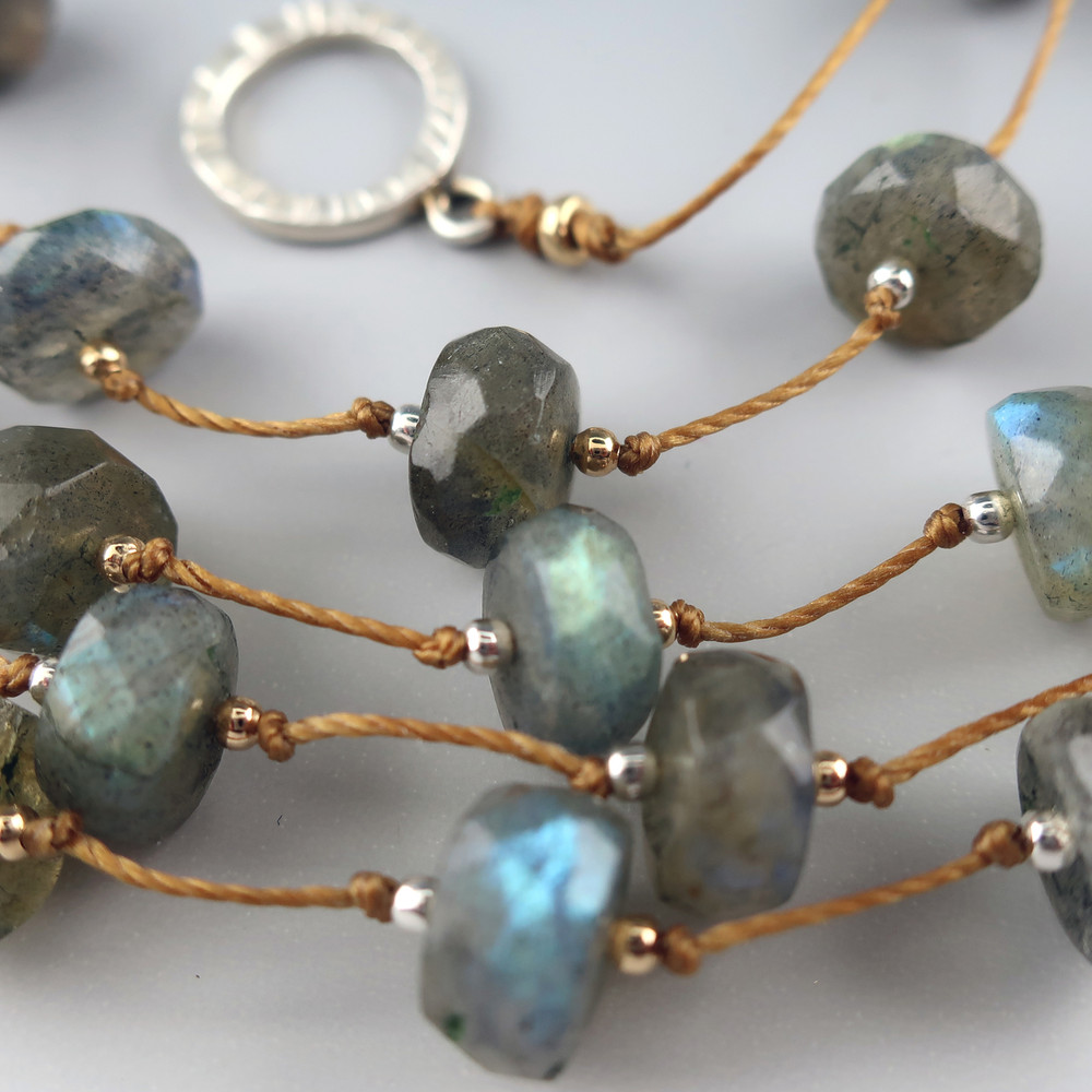 LABRADORITE Stepping Stones necklace