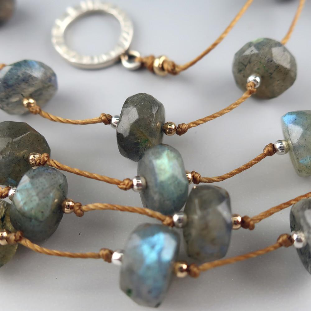 LABRADORITE Stepping Stones necklace