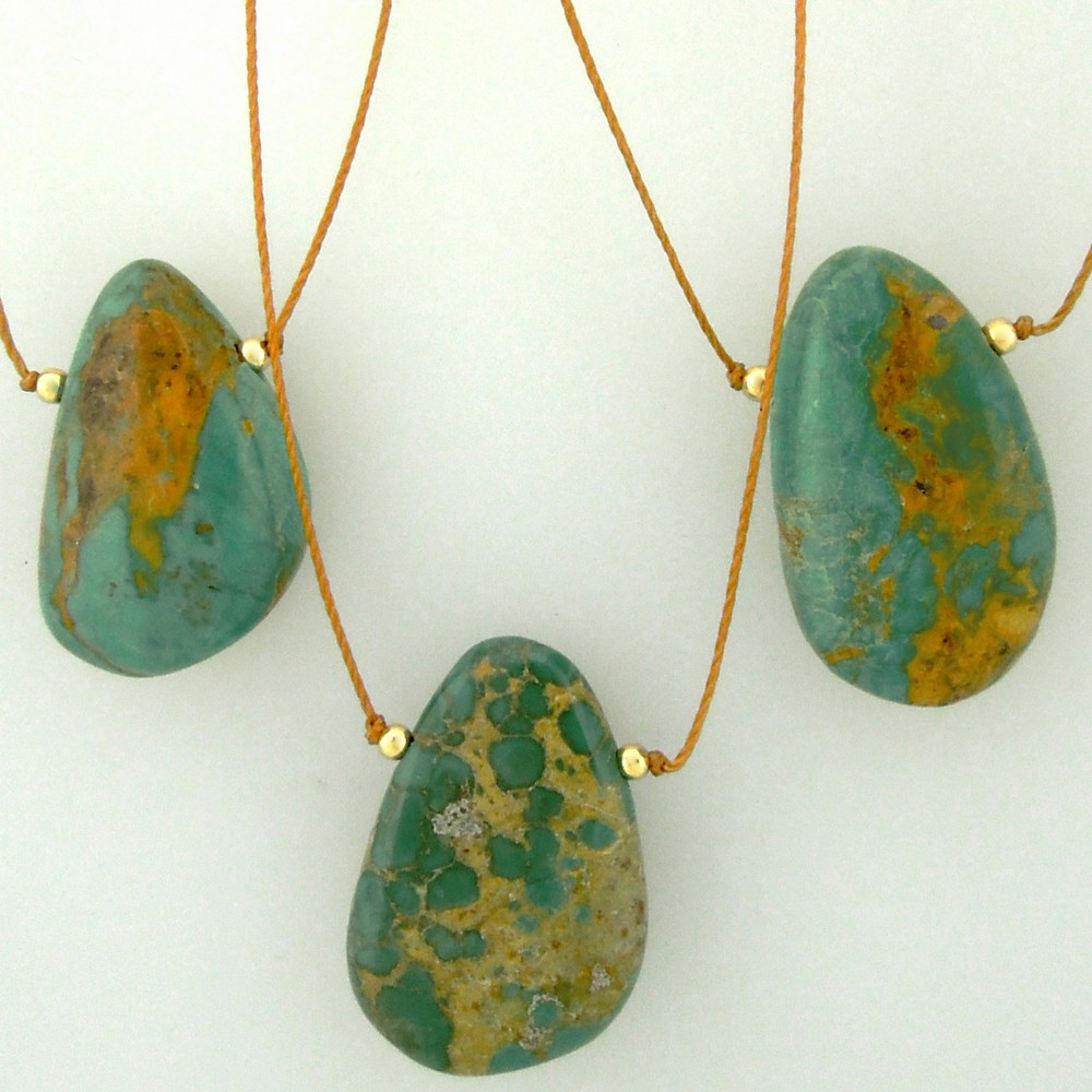 solo smooth turquoise nuggets