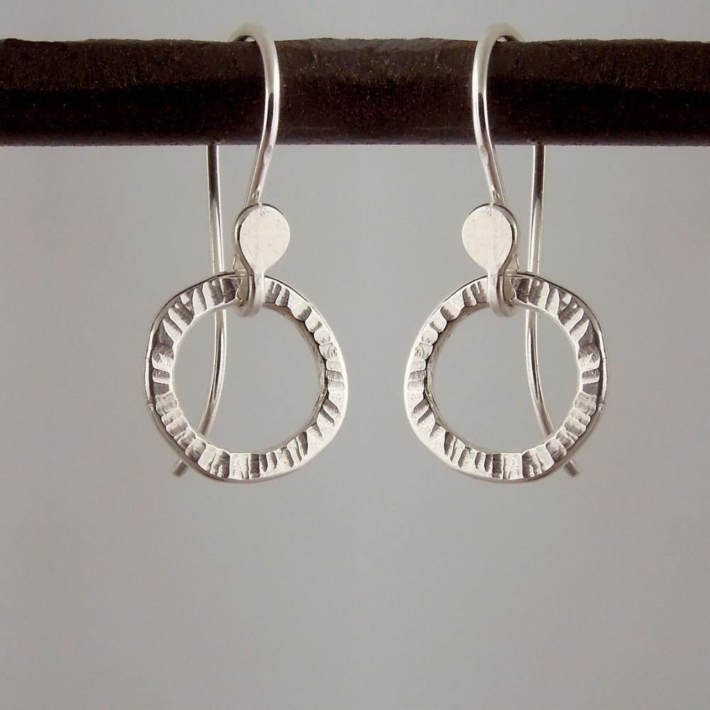 Argentium Sterling wee bling earrings.