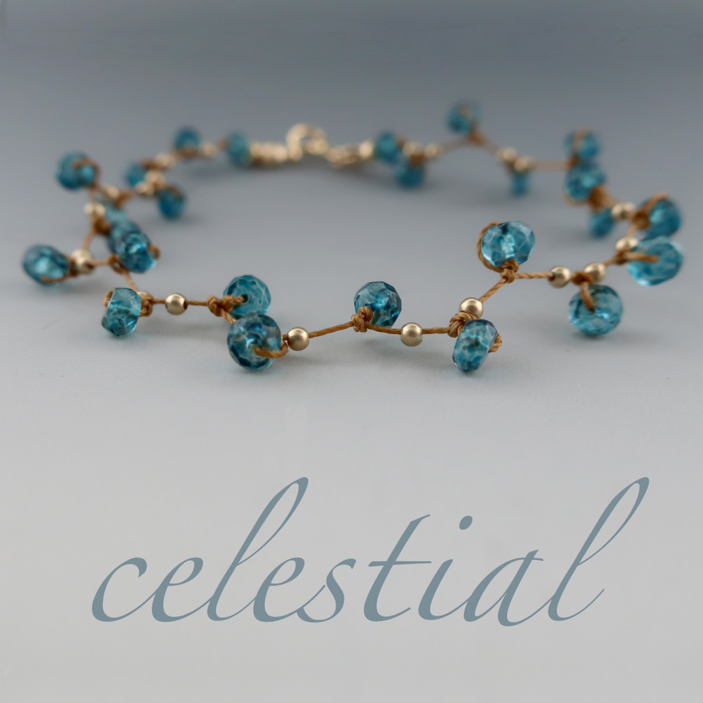 celestial plus - gems london blue quartz 4mm bracelet