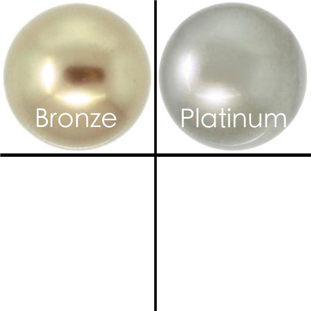 Pastille -  6mm Swarovski pearl earrings