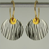 disquette 2 woody - 1/2'' earrings