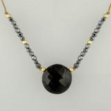 mingle deco - luxe coin black tourmaline 6c