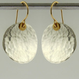 disquette 3 pebble - 3/4'' earrings
