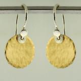 disquette 2 pebble GF - 1/2'' earrings