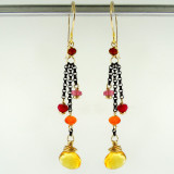dancing queen - minuet citrine OX earrings